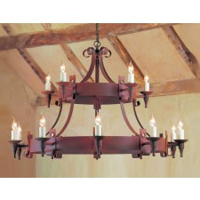 Impex Cromwell Chandelier Aged - 15 Light
