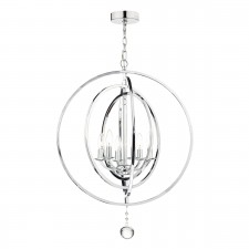 Smyrna 6 Light Pendant Polished Chrome Moveable Bands