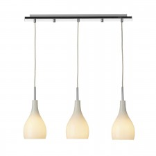 Soho 3 Light Pendant Light - Opal White