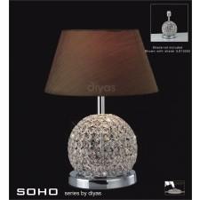 Diyas Soho Table Lamp 1 Light Polished Chrome/Crystal Large Ball