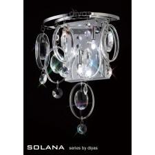 Diyas Solana Wall Lamp 3 Light Polished Chrome/Crystal