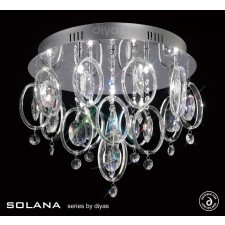 Diyas Solana Ceiling 9 Light Polished Chrome/Crystal