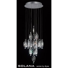 Diyas Solana Pendant 9 Light Polished Chrome/Crystal