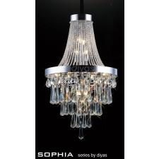Diyas Sophia Pendant 13 Light Chrome/Crystal