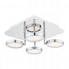 Sparta 4 Light Led Flush Polished Chrome Moveable Lense
