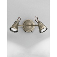 Franklite SPOT8952 Rustica 2-Light Spot Wall Bracket