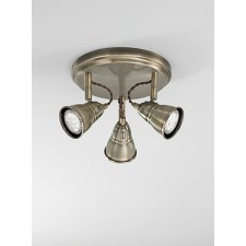 Franklite SPOT8953 Rustica 3-Light Spot Ceiling Flush