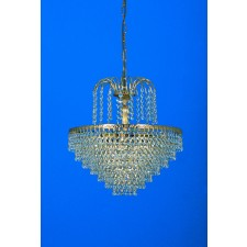 Impex Bonn Chandelier Gold Plated - 5 Light