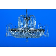 Impex Rostock Chandelier Nickel - 6 Light