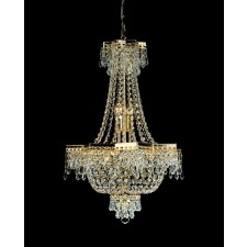 Impex Star Chandelier Gold Plated - 5 Light