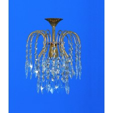 Impex Shower Chandelier - 1 Light, Brass & Gold Plate