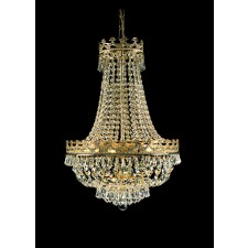 Impex Frankfurt Chandelier Gold Plated - 8 Light