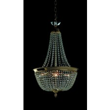 Impex Herne Chandelier Gold Plated - 3 Light