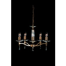 Impex Toulon Chandelier Gold - 5 Light