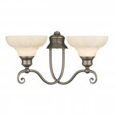 Stratford Wall Light - 2 Light Aged Brass