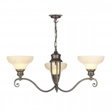 Stratford Ceiling Light - 3 Light Aged Brass