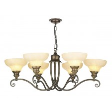 Stratford Ceiling Light - 6 Light Aged Brass