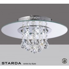 Diyas Starda Ceiling 5 Light Round Polished Chrome/Crystal