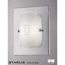 Diyas Starlis Wall Lamp Switched 1 Light Chrome/Crystal