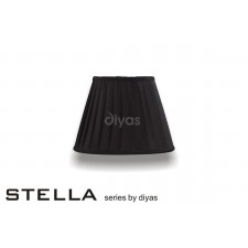 Diyas Stella Round Shade Black 250mm