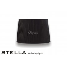 Diyas Stella Round Shade Black 350mm