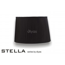 Diyas Stella Round Shade Black 400mm