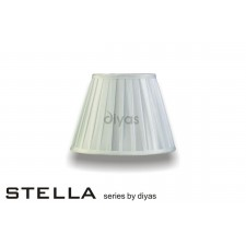 Diyas Stella Round Shade White 250mm