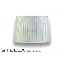 Diyas Stella Round Shade White 350mm