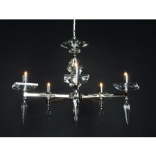 Impex Sorrento Chandelier Gold - 5 Light