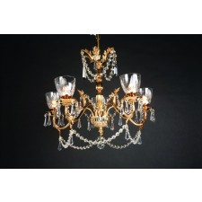 Impex Livorno Chandelier Gold - 5 Light