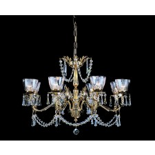 Impex Livorno Chandelier Gold - 8 Light