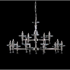 Impex San Marino Chandelier Nickel - 15 Light