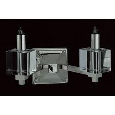 Impex Cube Wall Light Nickel - 2 Light