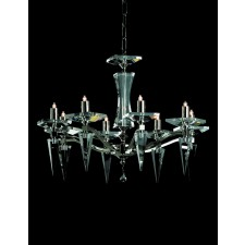 Impex Monza Chandelier Nickel - 8 Light