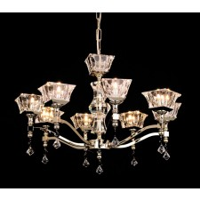 Impex Bresica Chandelier Gold - 8 Light, Gold