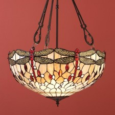 Interiors1900 Beige Dragonfly Large Inverted Pendant