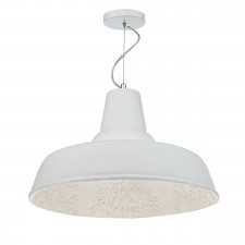 Susannah 1 Light Pendant White Large