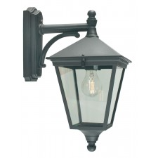 Norlys T2 BLACK Turin Down Wall Lantern Black