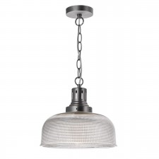 Tack 1 Light Glass Pendant Industrial Nickel