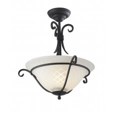 Elstead TCH/SF BLACK Torchiere Semi-Flush Light Black