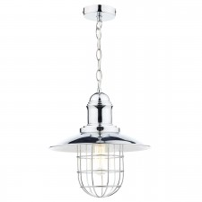 Dar Terrace 1-Light Pendant Polished Chrome