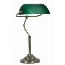 Bankers Lamp - Antique Brass