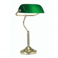Oaks Lighting TL 180 PB Bankers Lamp Polished Brass