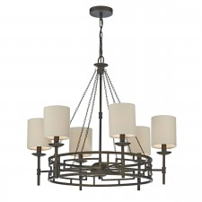 Todd 6 Light Pendant Bronze complete with Shds