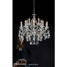 Diyas Torino Pendant 15 Light Round Polished Chrome/Crystal