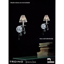 Diyas Torino Wall Lamp 1 Light Polished Chrome/Crystal