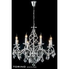 Diyas Torino Pendant 8 Light Round Polished Chrome/Crystal