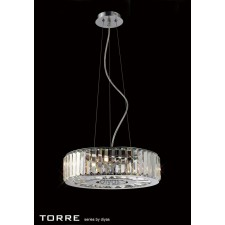 Diyas Torre Pendant 5 Light Polished Chrome/Crystal