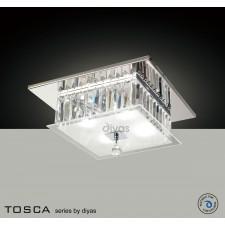 Diyas Tosca Ceiling Square 4 Light Polished Chrome/Crystal