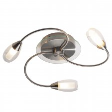 Tugel Ceiling Light - 3 Light Satin Chrome